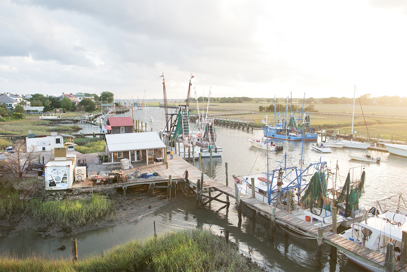 The shrimp docks near Charleston Harbor