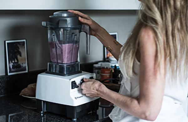 "In the Mix: ""My Vitamix is so much more than a blender for smoothies. I make so many healthy things in it: soups, dressings, fillings—well worth the investment."""