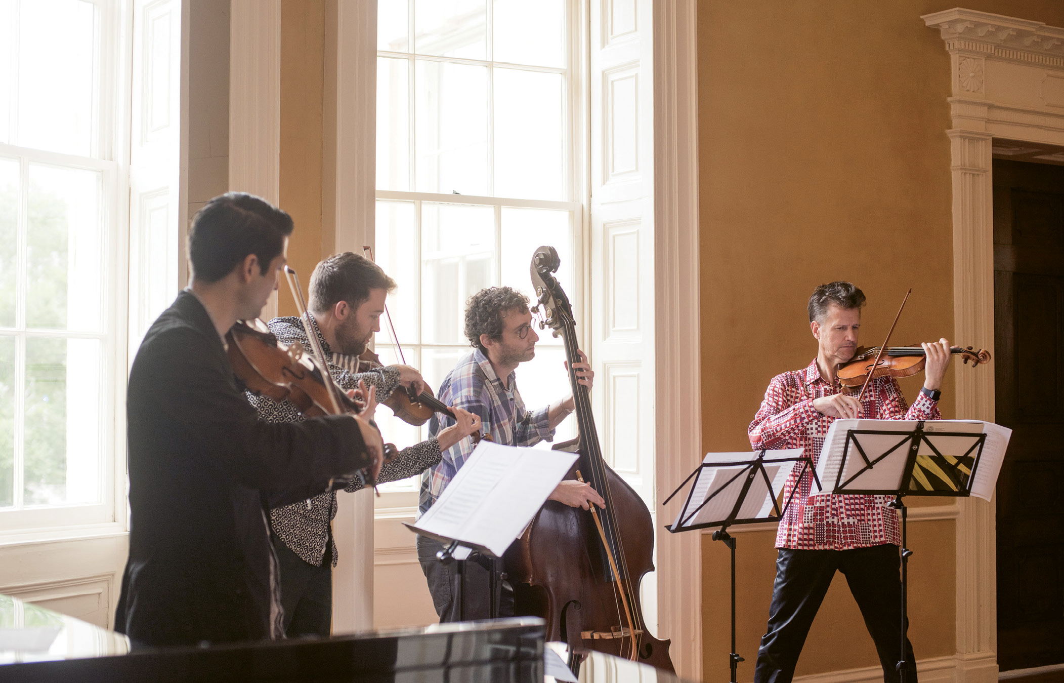 5 p.m.  Practice Makes Perfect: Grammy-winning violist Masumi Per Rostad; St. Lawrence String Quartet violinist Owen Dalby; and bassist, composer, and Juilliard faculty member Doug Balliett rehearse with Nuttall at Spoleto headquarters before a special donor party and concert.