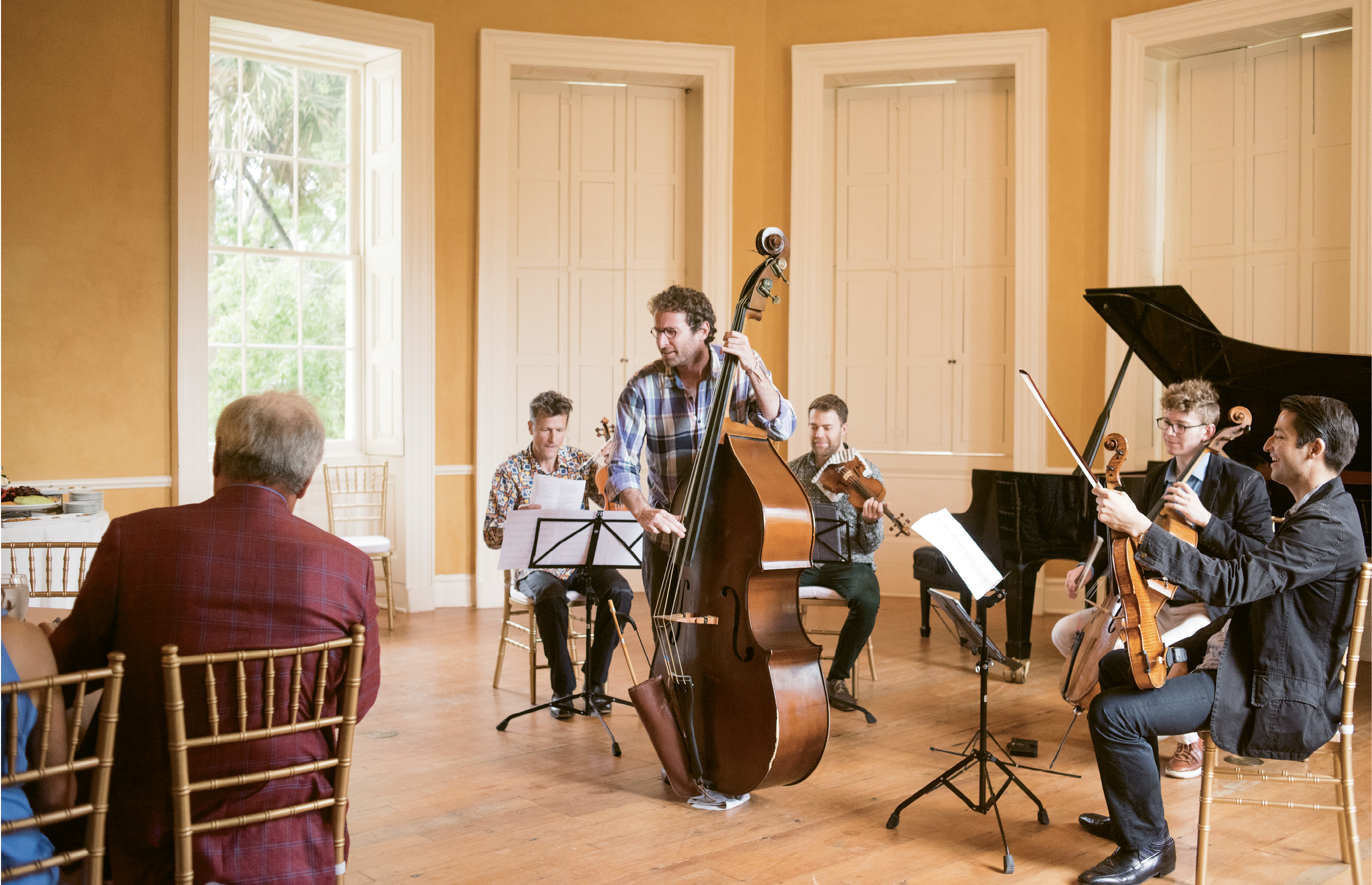 5 p/m. - Fan Club: As the guests start to arrive, Balliett takes the ensemble through one of his compositions.