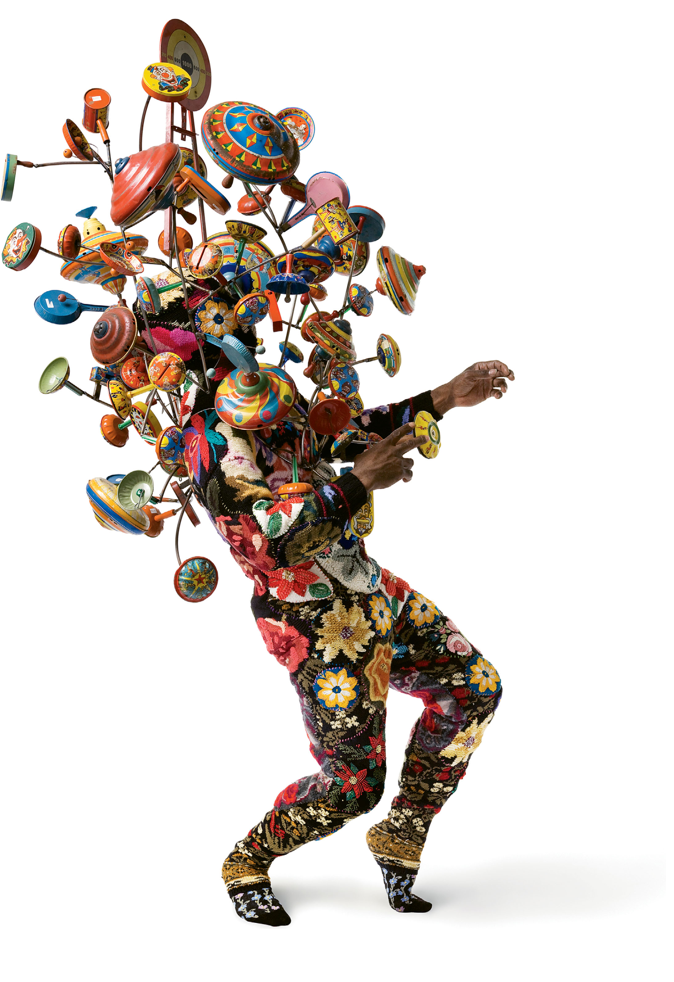 "Artist Nick Cave's sculptural Soundsuits exemplify the whimsical, somewhat off-kilter conceptual art that Sloan is drawn to. ""It's not what you expect to find in the middle of historic Charleston,"" he says."
