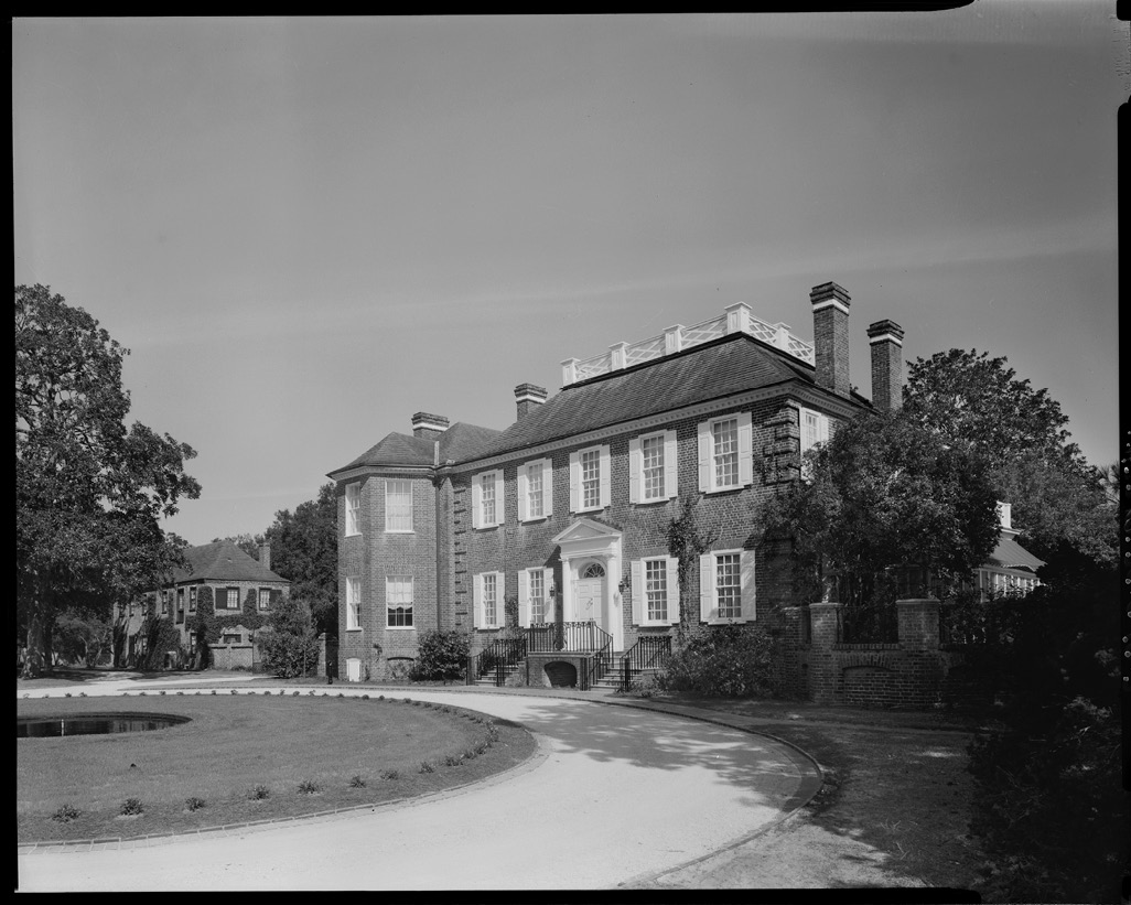 In April 1930, the Morawetzes purchased Fenwick Hall, a circa-1730 plantation on John's Island. They hired noted Charleston architect Albert Simons to fully refurbish and update the Georgian manor, documented circa 1933 for the Historic American Buildings Survey. Image courtesy of Library of Congress