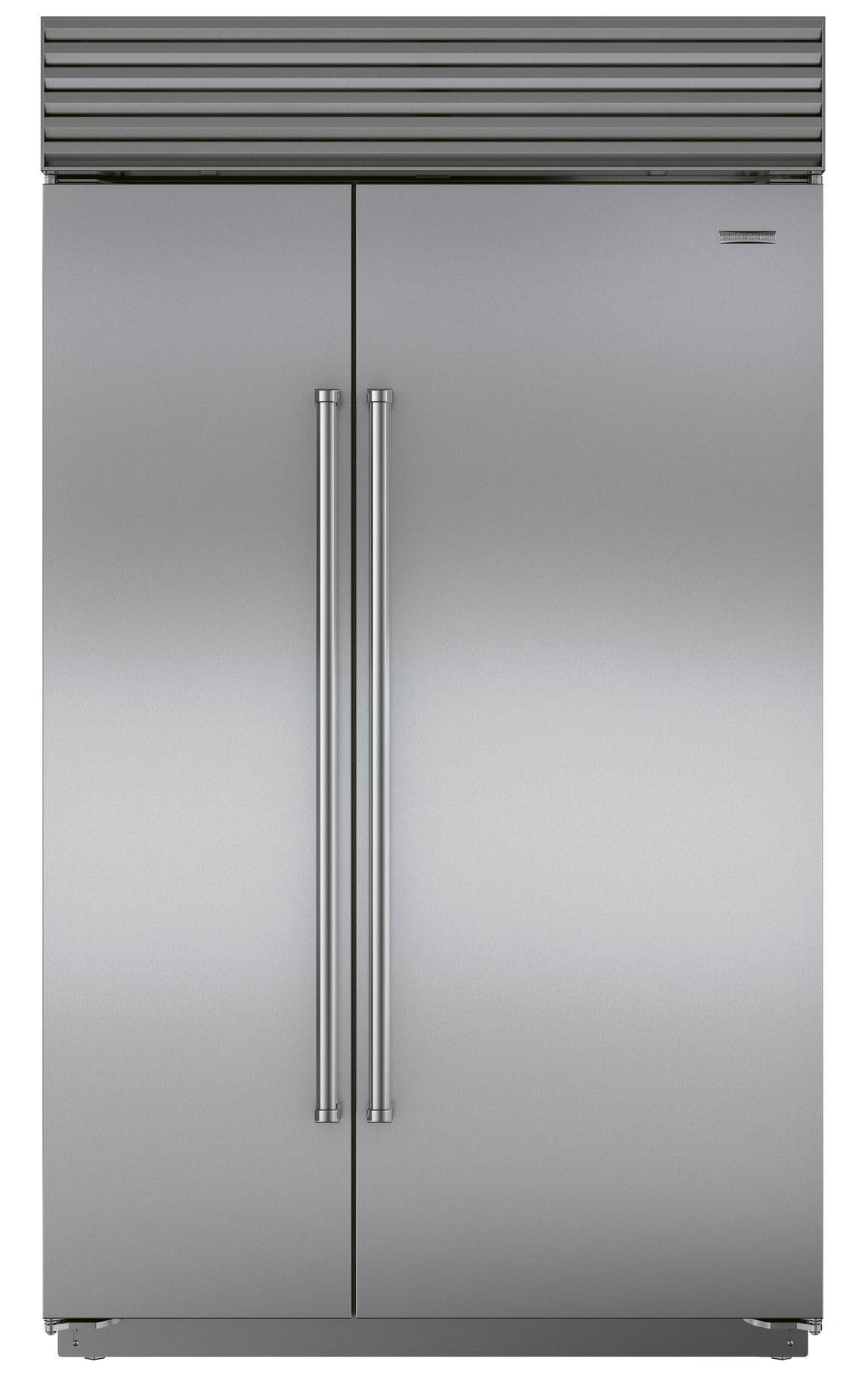 Sub-Zero  side-by-side  refrigerator, $10,599,  at Ferguson Bath, Kitchen, & Lighting Gallery