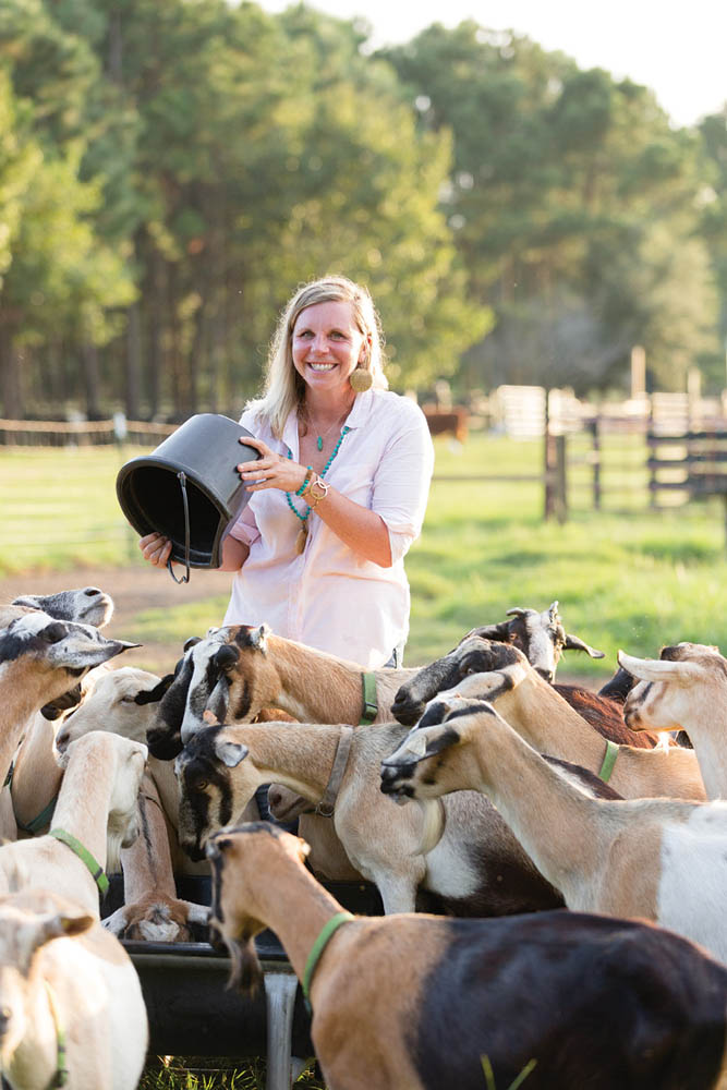 Downward Facing Goat: Missy Farkouh was lured into goat farming thanks to goat yoga (occasionally offered at The Goatery). As Sillivant's business partner, she's become conversant in all things animal husbandry, from veterinary care to cheese making.