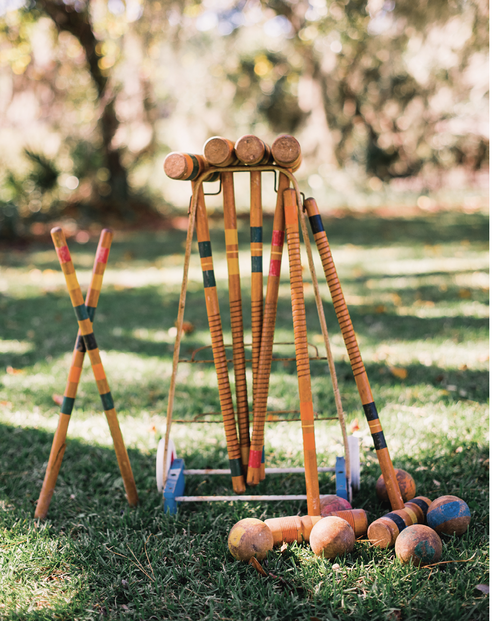 ...play croquet while staying distanced.