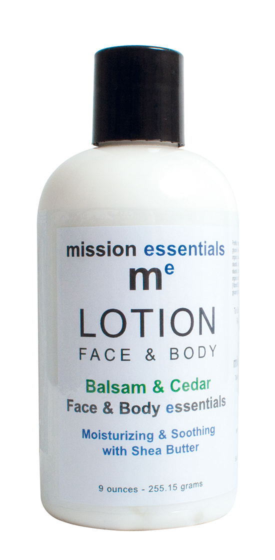 Mission Essentials Balsam and Cedar Face and Body Lotion