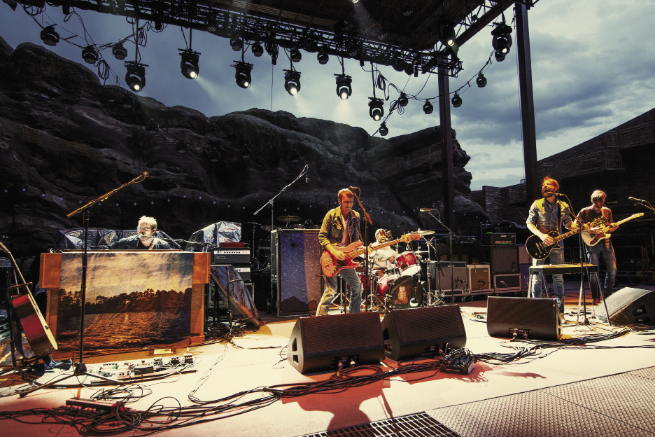 "Band of Horses played Denver's Red Rocks Amphitheatre on August 3, 2012 for their tour with My Morning Jacket. ""We've been inspired by the way they handle themselves on and off stage,"" notes Bridwell."