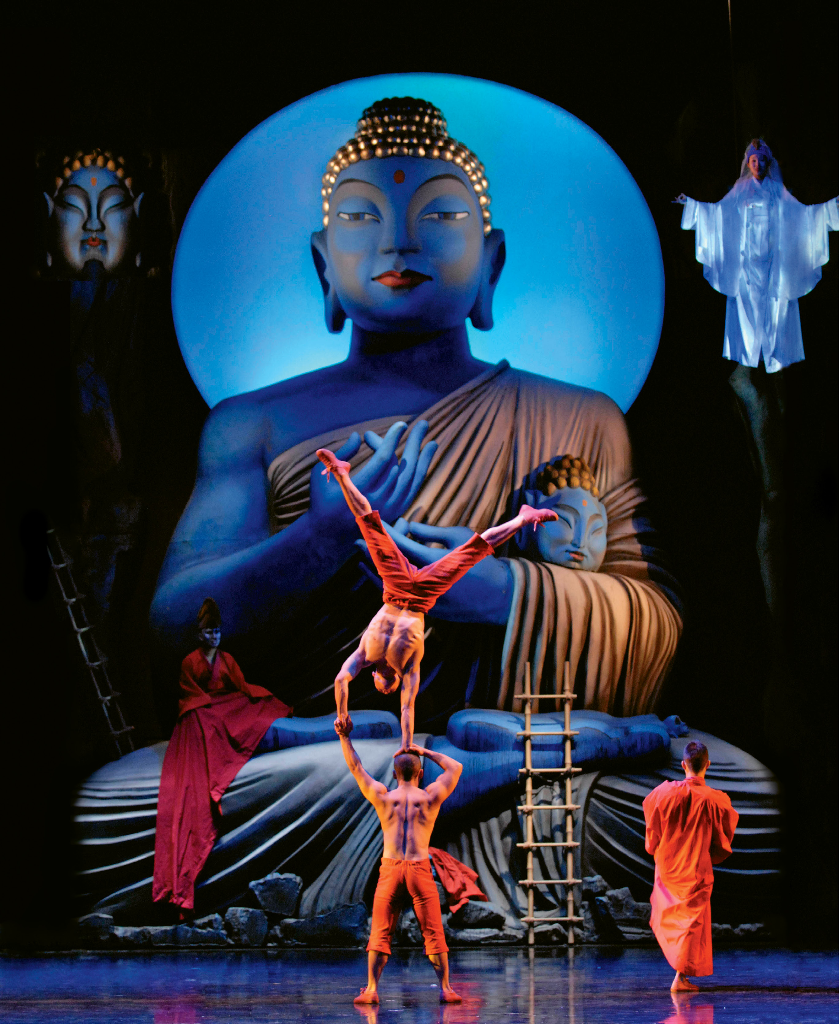 Spoleto's 2008 American premiere of Monkey: Journey to the West by Chinese actor and director Chen Shi-Zheng, featured a pop and classic opera blend, complete with acrobats and a giant Buddha custom created for the Sottile stage.