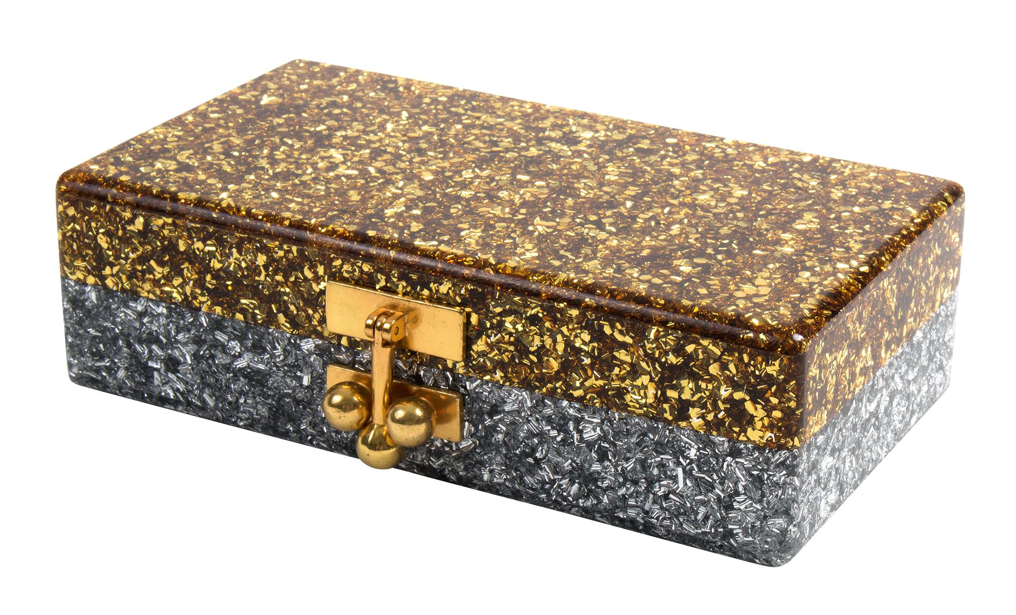 "Edie Parker ""Jean Half & Half Box Clutch,"" $1,095 at James"