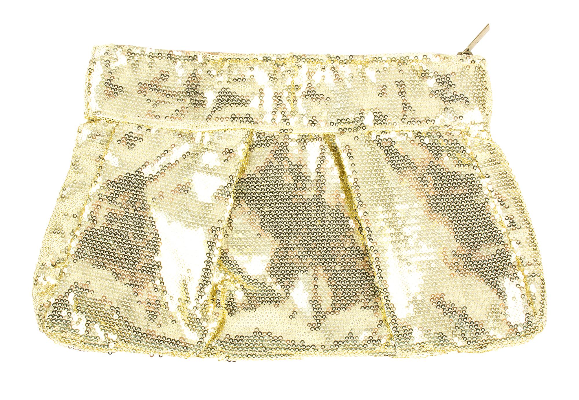 Muche et Muchette gold sequin clutch, $50 at Copper Penny