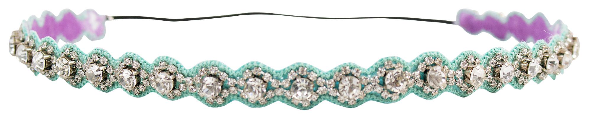 Deepa Gurnani blue rhinestone headband, $45 at Copper Penny