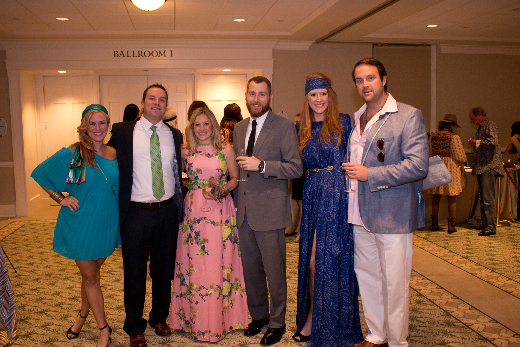 Charleston Magazine Club director Angharad Chester-Jones with Stephen Williams, Susie Armstrong-Tracey, Greg Tracey, Meredith Siemans, and Jonathan Tibbs