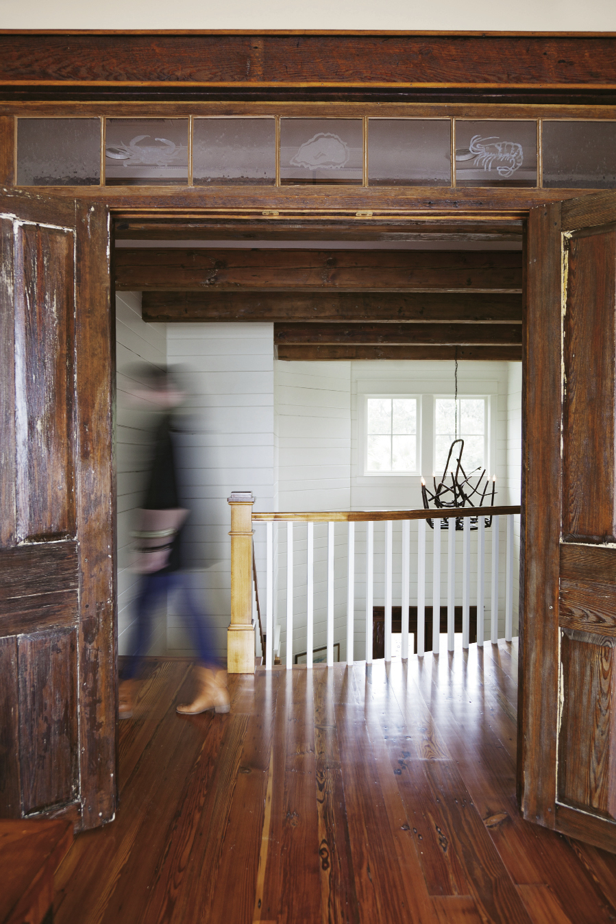 Exterior doors from a property in Newberry were fashioned as an entryway for an upstairs grandchildren's room