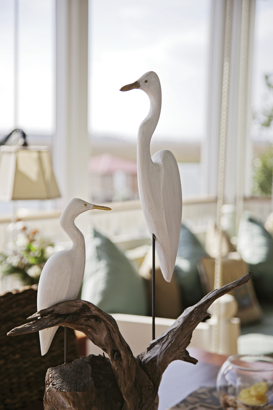 egret statues came from a boutique on Edisto Island