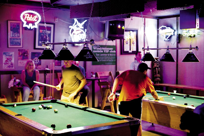 The Windjammer offers pool sharks additional entertainment.