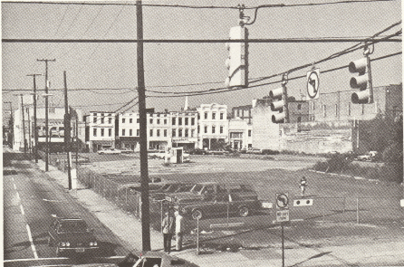 Riley's plan to anchor the peninsula's revitalization by building hotel, convention, and shop space, later to be known as Charleston Place, in a five-block dead zone at the corner of King and Market was contentious at the time.