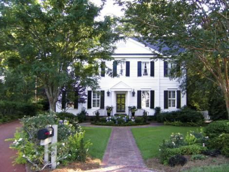 Curb Appeal: Tommy Peters and wife Sterling Hannah's Federal-style home in Molasses Creek