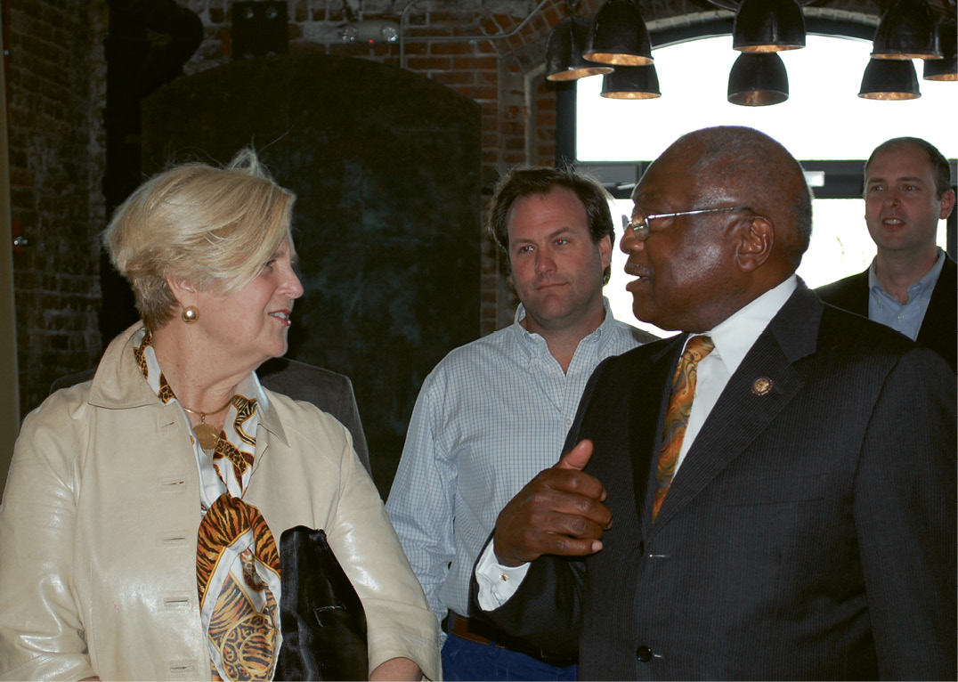 With Congressman Clyburn at a 2016 Urban Land Institute program on historic tax credits for the rehabilitation of historical buildings