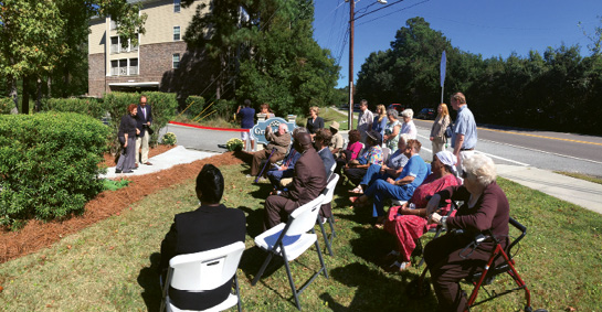 A 2014 sidewalk dedication at Grandview Apartments