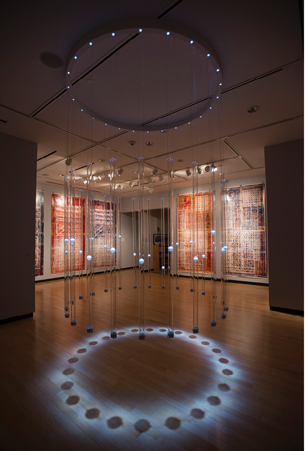 "Erwin Redl's ""Rational Exuberance"" in 2016 included a centerpiece light installation exploring scale, repetition, and patterns."