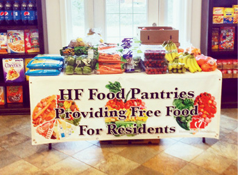 The food pantry program at Puddledock Apartments in Price George, Virginia