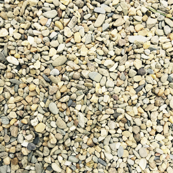 """Cumberland River"" pebble gravel paving, $110 a ton, at Blue Max Materials"
