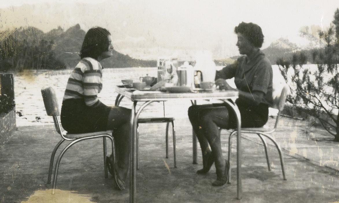 With Bokara, 1955.