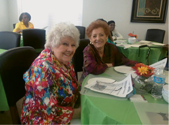 Grandview residents enjoying a cooking class sponsored by Lowcountry Food Bank
