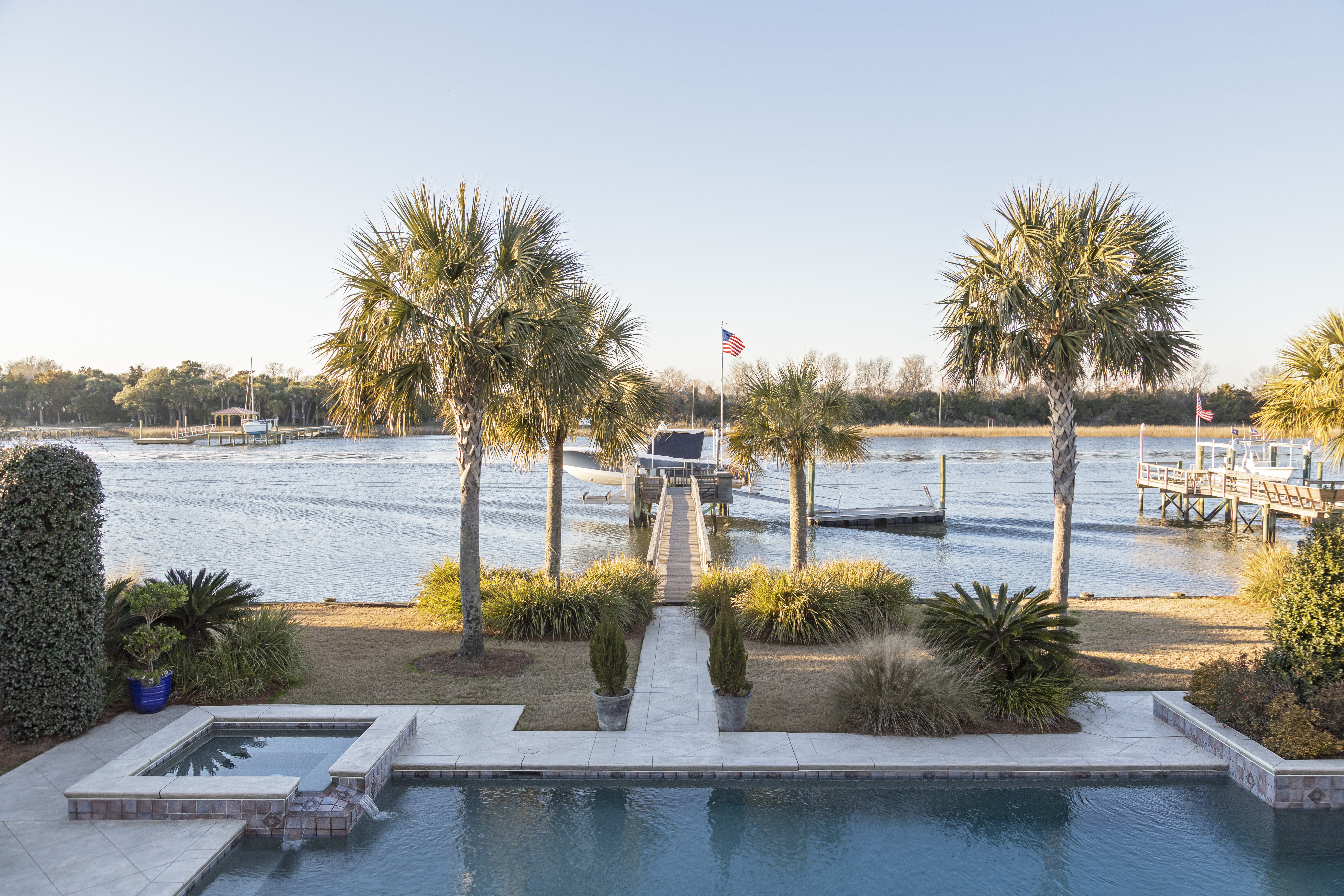 IN FULL VIEW: Horton drew much of his inspiration for the home's new palette from its spectacular views and the ever-changing colors of the Intracoastal Waterway and marsh.