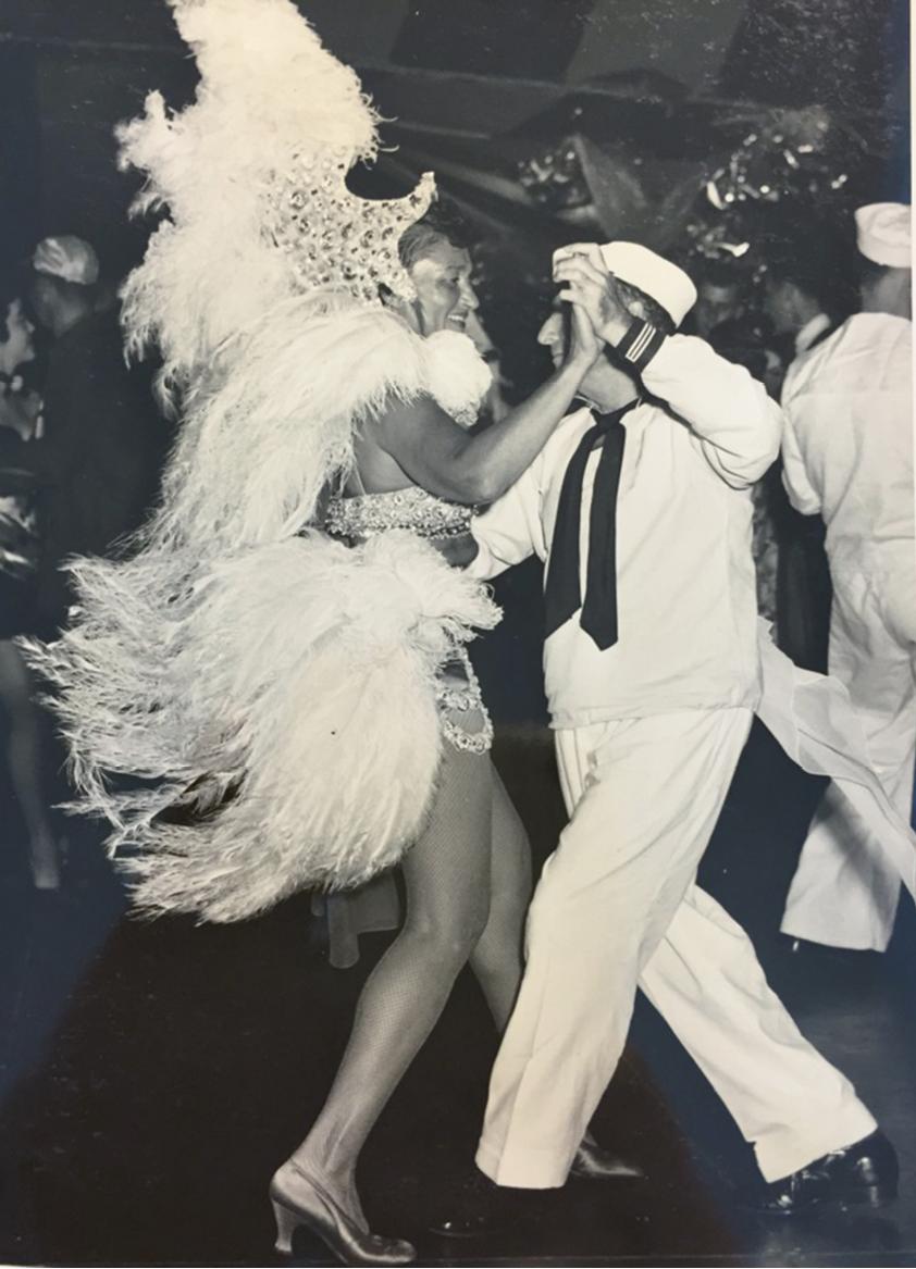 Gertie as a show girl, circa 1950