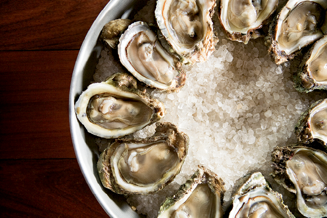 OYSTERS ON THE HALF SHELL: Pearlz Oyster Bar