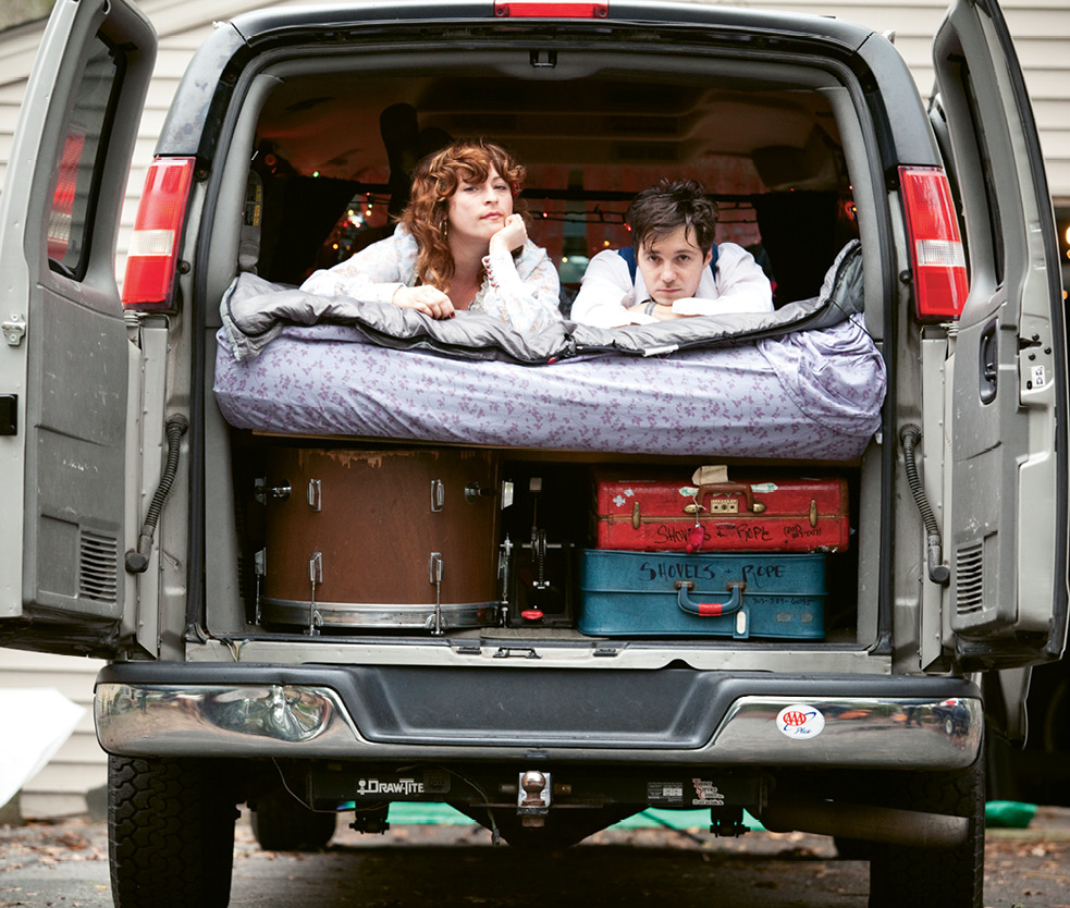 All In: As young troubadours on the road with their breakout album, O' Be Joyful, the couple lived, toured, and made do in their humble minivan.