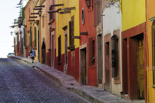 The streets of Centro Histórico are lined with architectural gems and centuries-old doorways on steep cobbled lanes.
