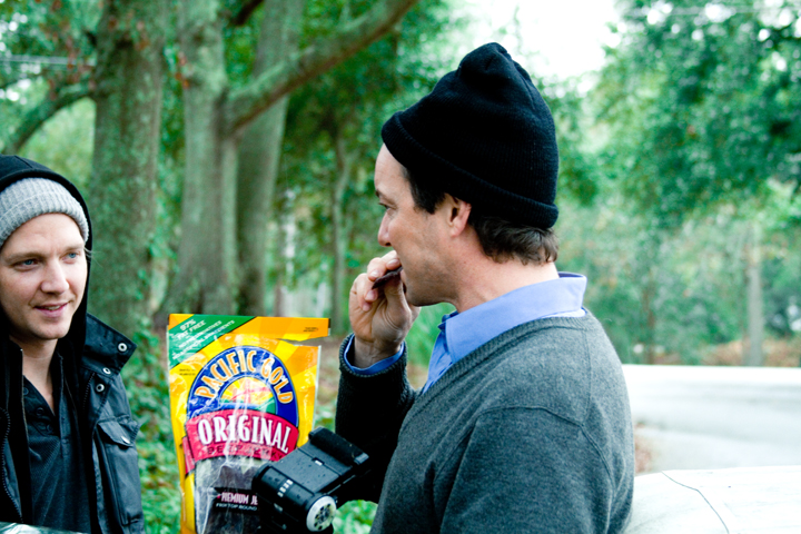 Frank And Josh Dig In To A Classic Photo Shoot Snack (Beef Jerky)- Photo by Jonathan Balliet