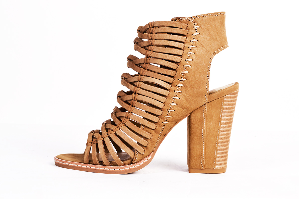 "Dolce Vita ""Amina"" nubuck peep-toe bootie in ""saddle,"" $190 at Belk"