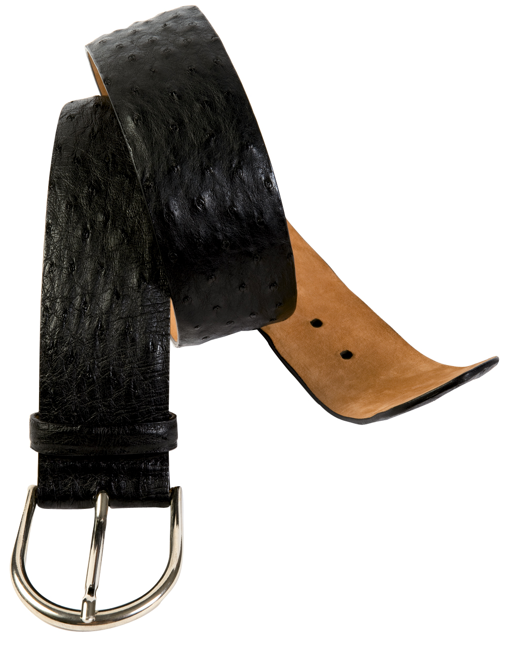 W. Kleinberg Ostrich belt with a nickel buckle, $365 at Rapport