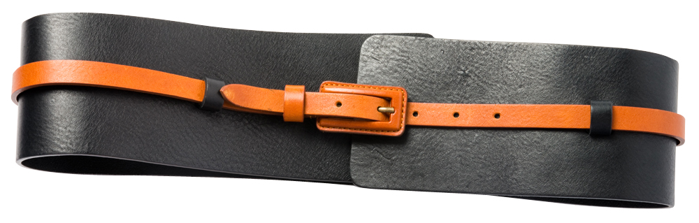 "Lafayette 148 ""Wide Obi Belt"" is a handmade leather belt with removable skinny belt, $148 at Gwynn's of Mount Pleasant"