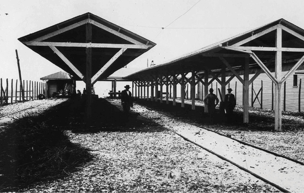 The railroad depot circa, 1890