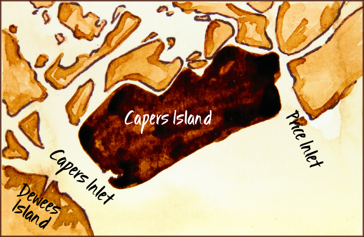 Capers Island Heritage Preserve/ Price & Dewees Inlets