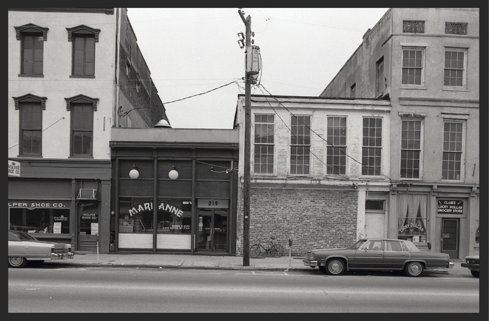 "Marianne at 219 Meeting Street in the late '70s; it was the beginning if the city's European culinary ""revolution."""