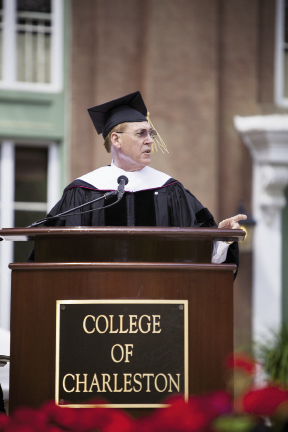 Lieutenant Governor McConnell addresses the CofC graduating class of 2013