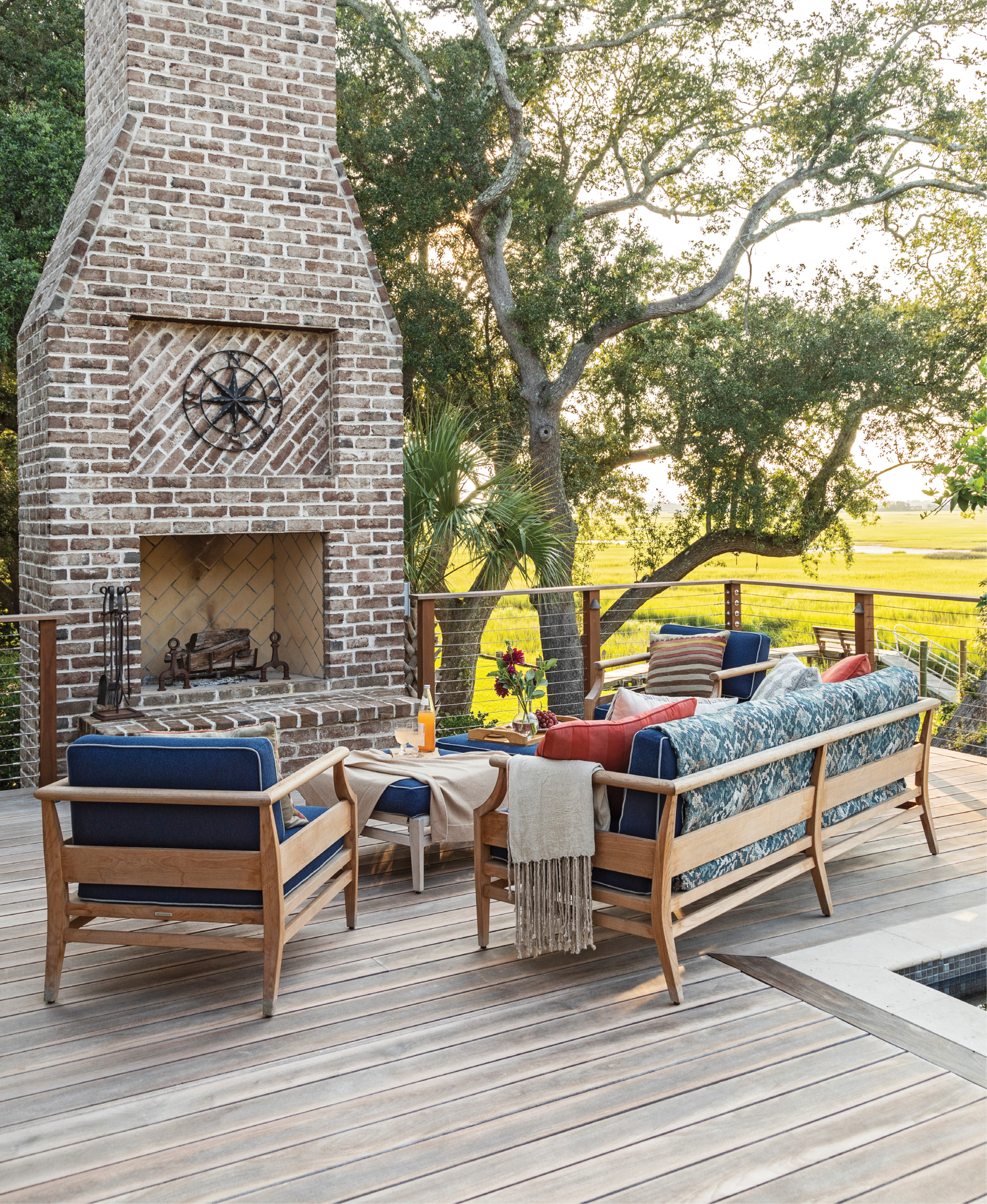 LOWCOUNTRY OASIS: A love of sailing, the Holy City, and outdoor living brought a Chicago couple back to James Island to build their forever home on an idyllic marsh-front lot.