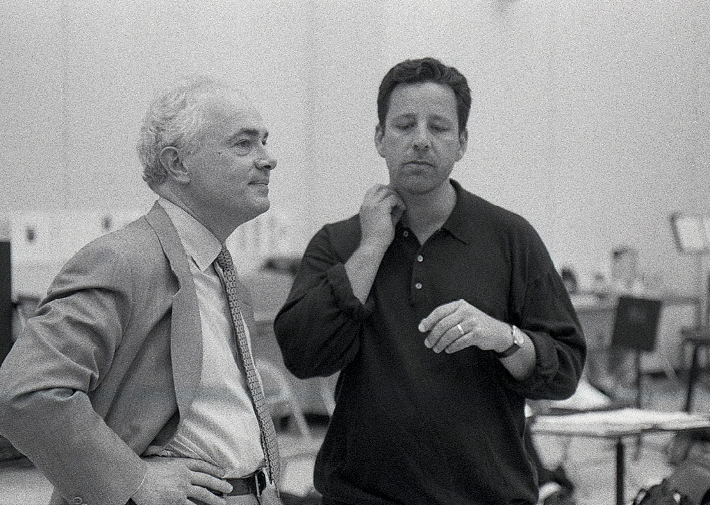 Redden at a 1996 rehearsal with Steven Sloane, who served as the festival's music director from 1996 to 1999, and returned most recently in 2019 to conduct the opera Salome