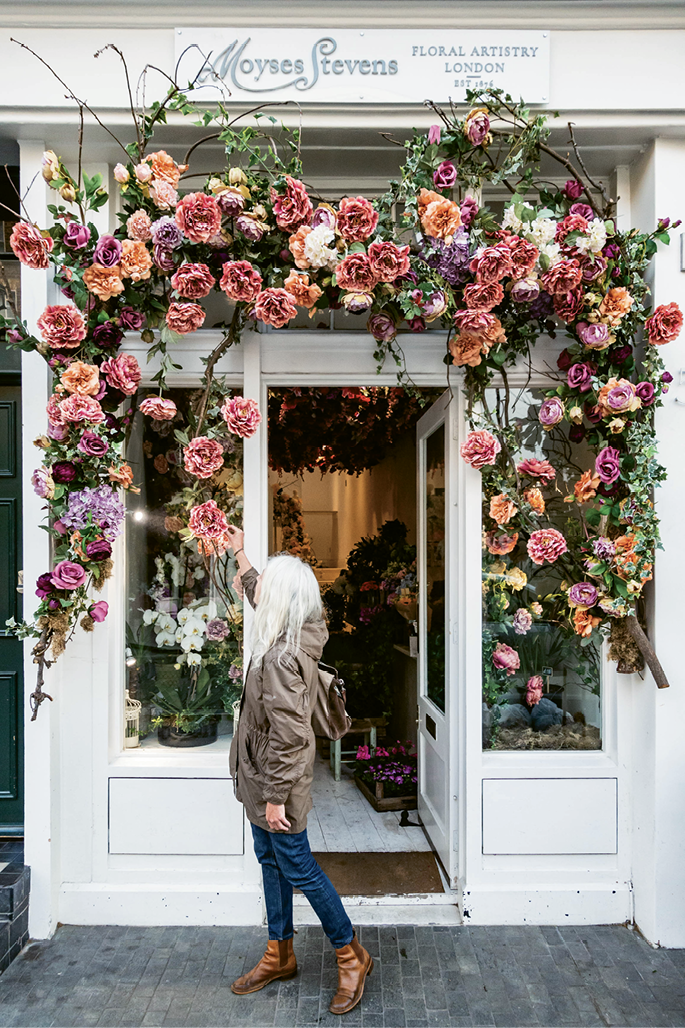 ...as well as prestigious florist Moyses Stevens, with even more blooms on display during the spring Chelsea Flower Show
