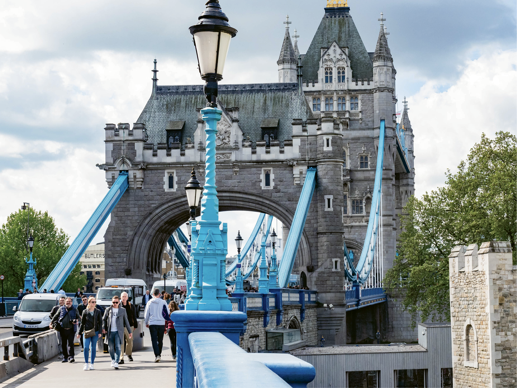 Following the River Thames, travelers can get close-up views of some of London's iconic buildings, including the Tower Bridge...