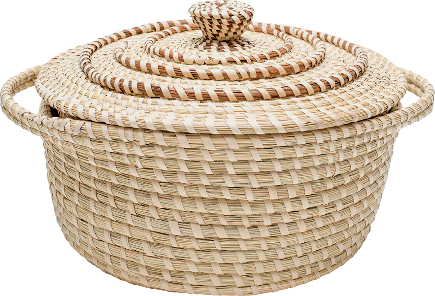 Sweetgrass basket-maker Nakia Wigfall's artful oven replica