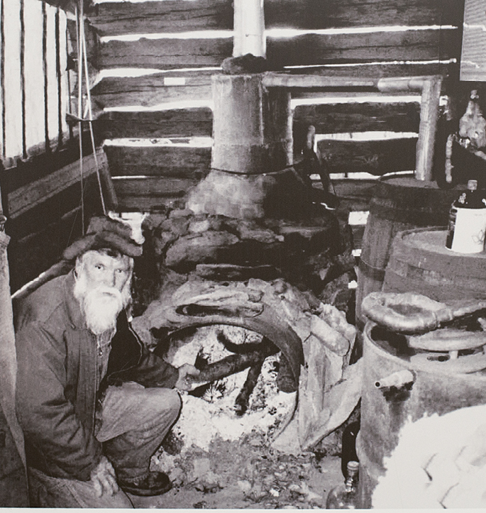 Examples of vintage stills in the Southeast