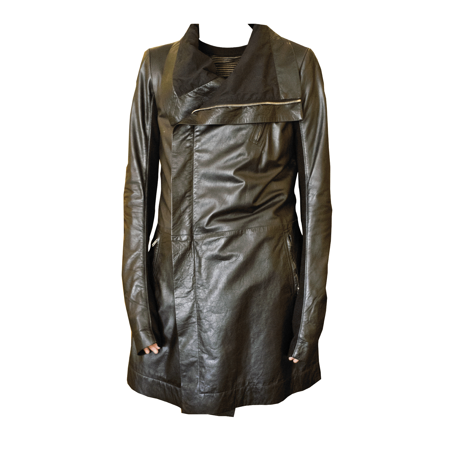 "Fashion Institute ""Whenever Fanny goes into Worthwhile, we're in trouble!"" Leather jacket, Worthwhile, $2,195"