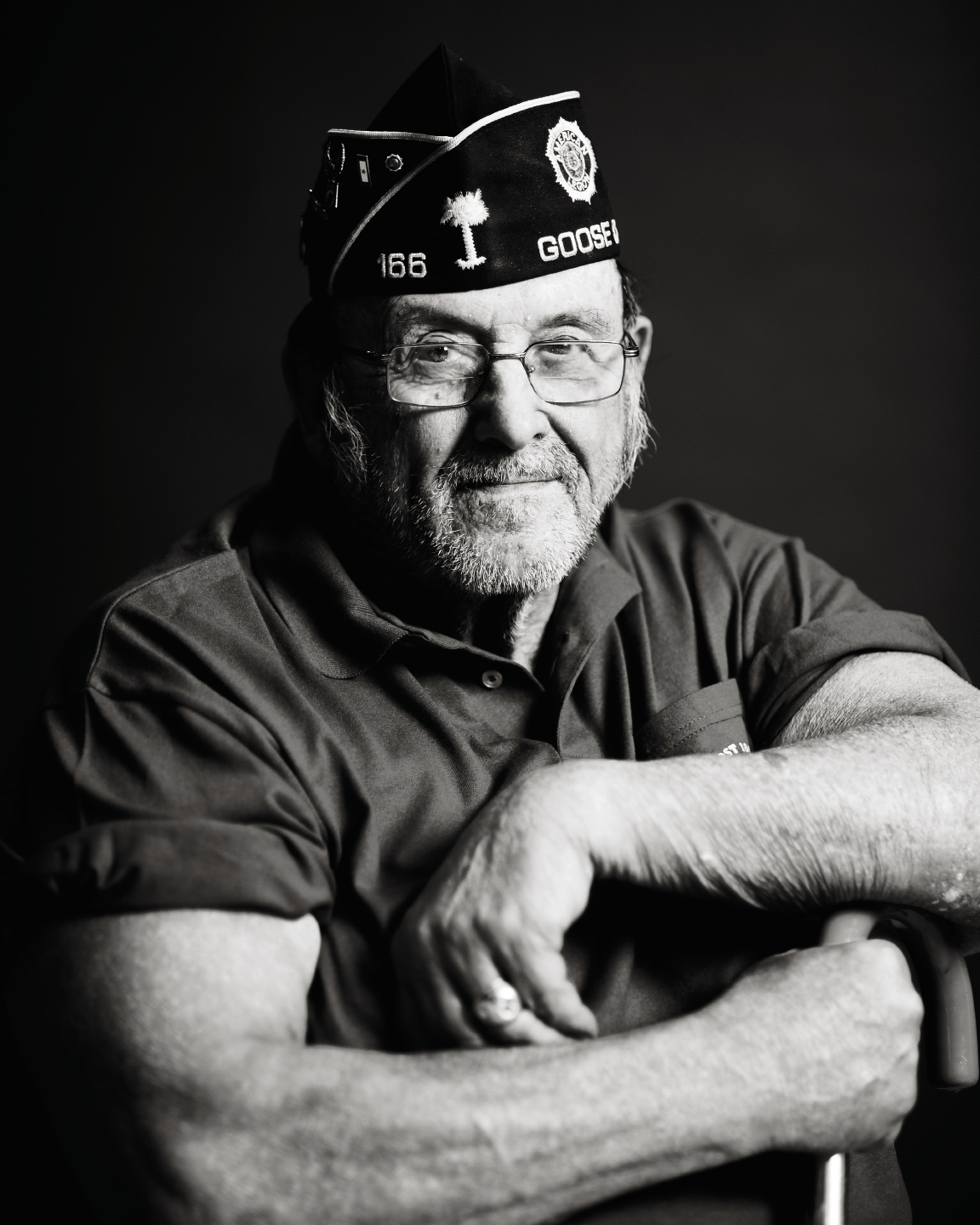 "During her rehab, Pearsall began the ""Veterans Portrait Project,"" some images from which are on permanent display at the Ralph H. Johnson VA Medical Center in Charleston. Ron DeMallo"