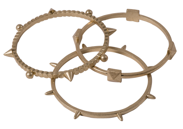 Set of three painted gold bracelets by Tamina By Stella, $24 for set at Teal